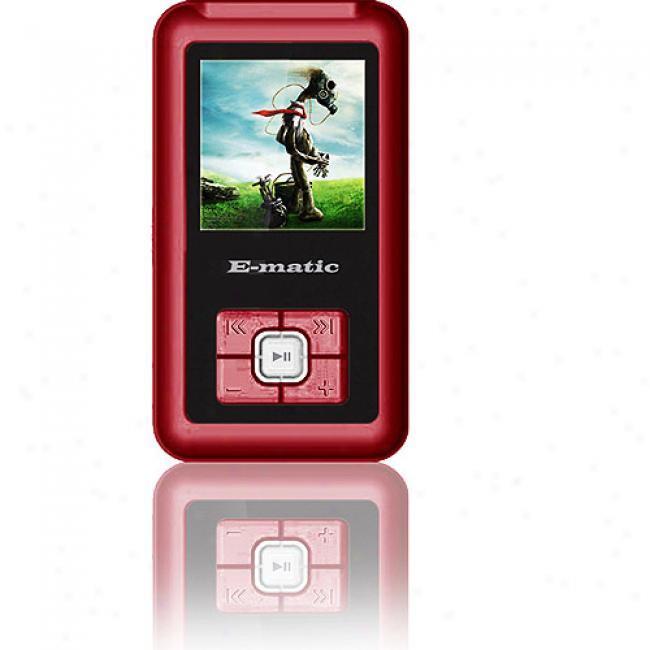 Ematic 2gb Video Mp3 Player W/ 1.5'' Screen, Red