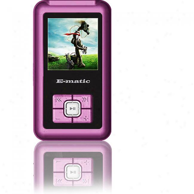 Ematic 2gb Video Mp3 Player W/ 1.5'' Screen, Pink