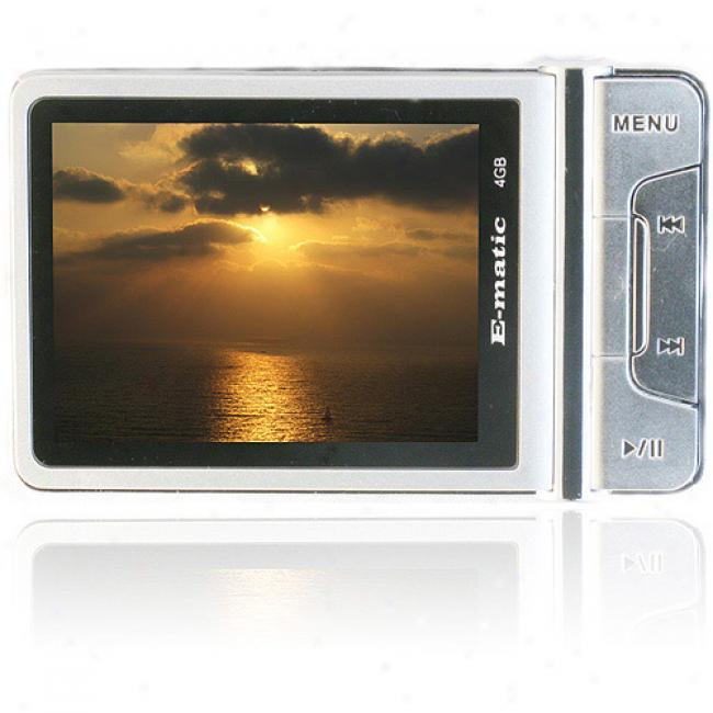 Ematic 4gb Video Mp3 Player With Camera And Video Recorder, Silver