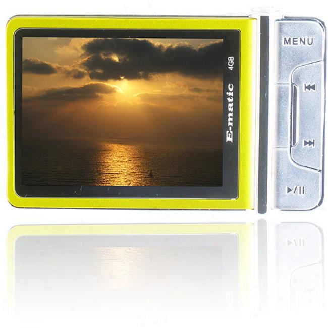 Ematic 4gb Video Mp3 Player With Camera And Video Recorder, Vibrant Yellow