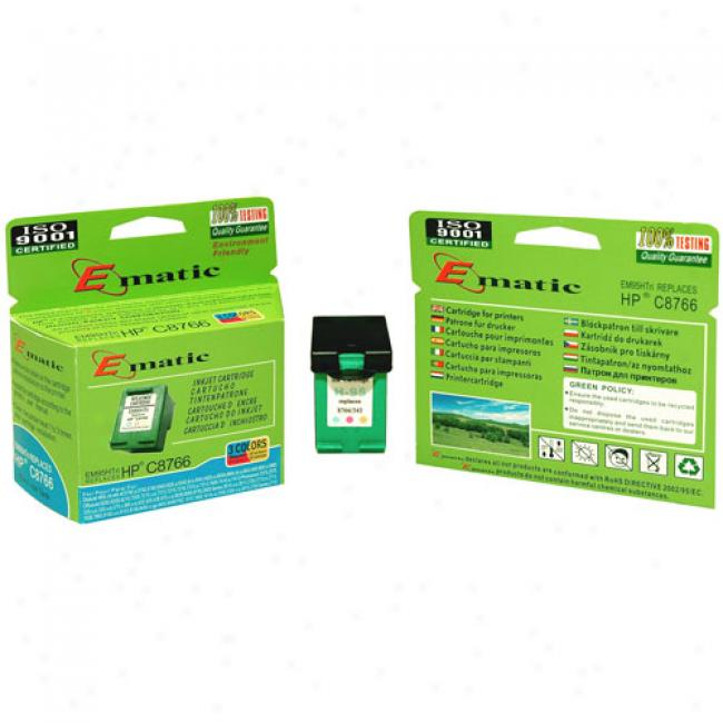 Ematic Inkjet Cartridge, Compatible With Hp 95 Tri-color (hp C8766)