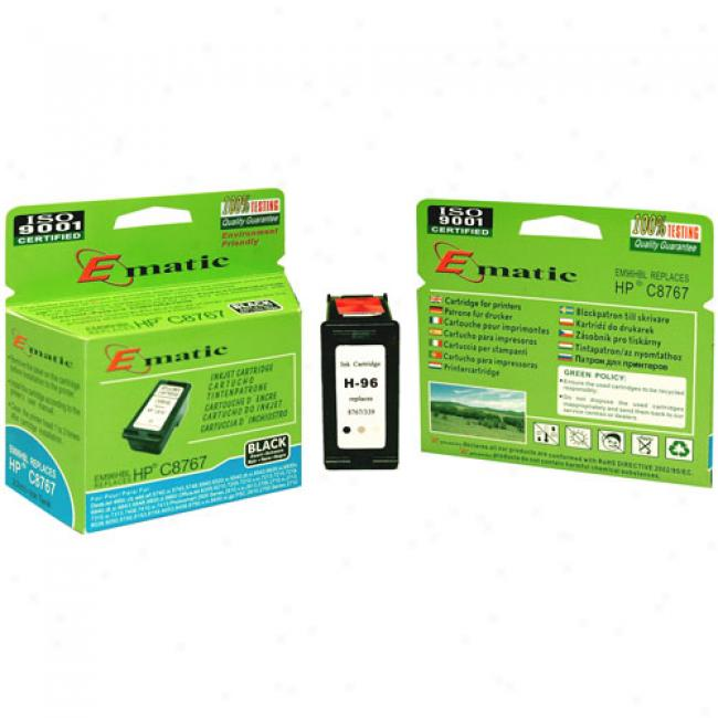 Ematic Inkjet Cartridge, Compatible With Hp 96 Black (hp C8767)