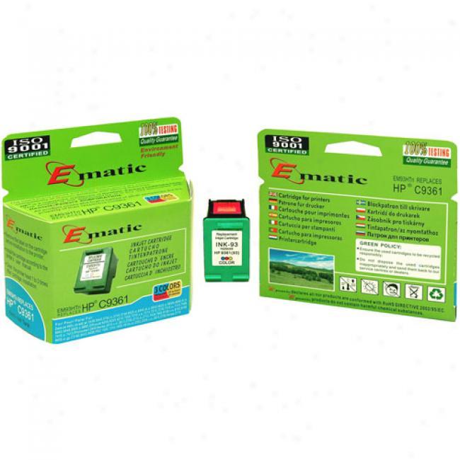 Ematic Inkjet Cartridge, Compatible Attending Hp 93 Tru-color (hp C9361)