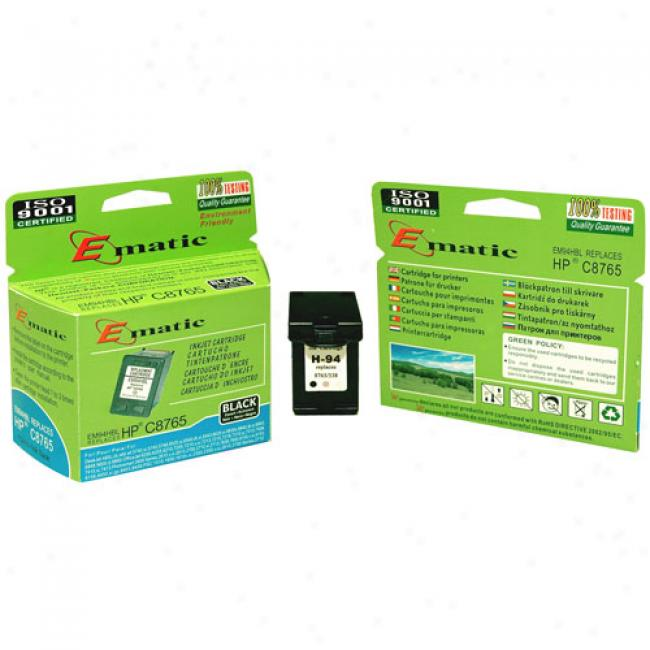 Ematic Inkjet Cartridge, Compztible Upon Hp 94 Dismal (hp C8765)