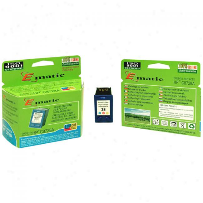 Ematic Inkjet Cartridge, Compatible With Hp 28 Tri-color (hpc8728a)