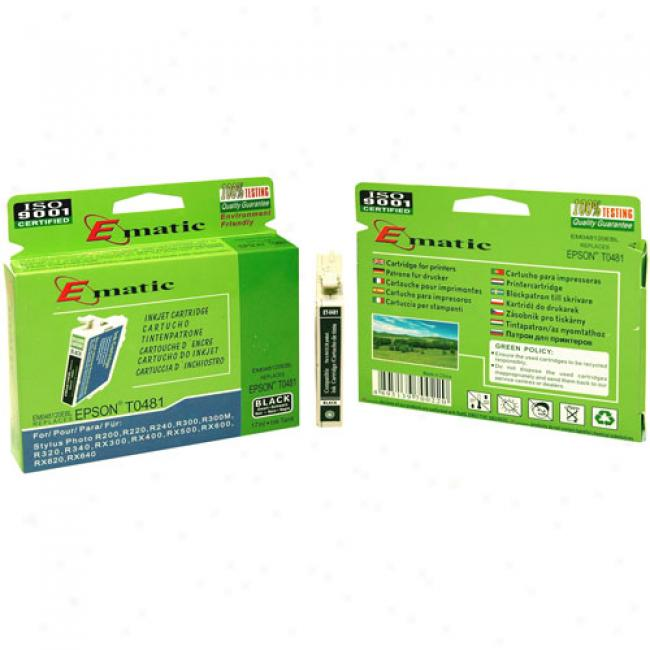 Ematic Inkjet Cartridge Replaces Epson T048120 Black
