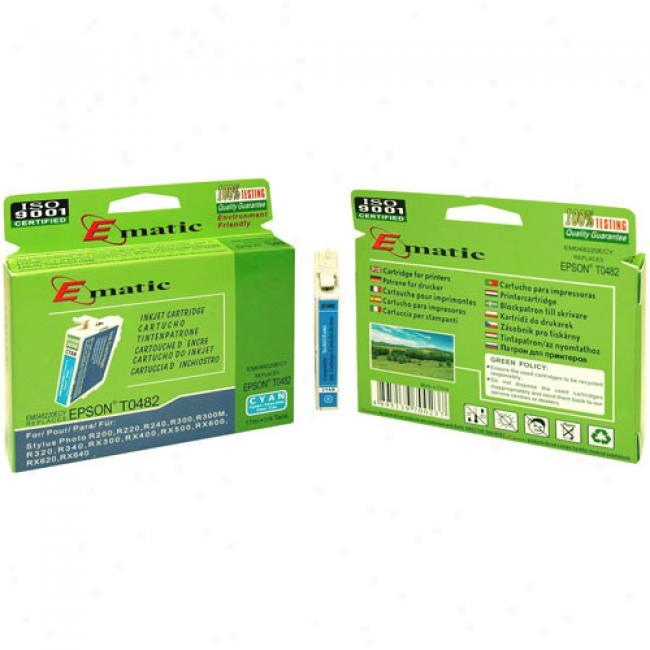 Ematic Inkjet Caartridge Replaces Epson T048220 Cyan (t048220)