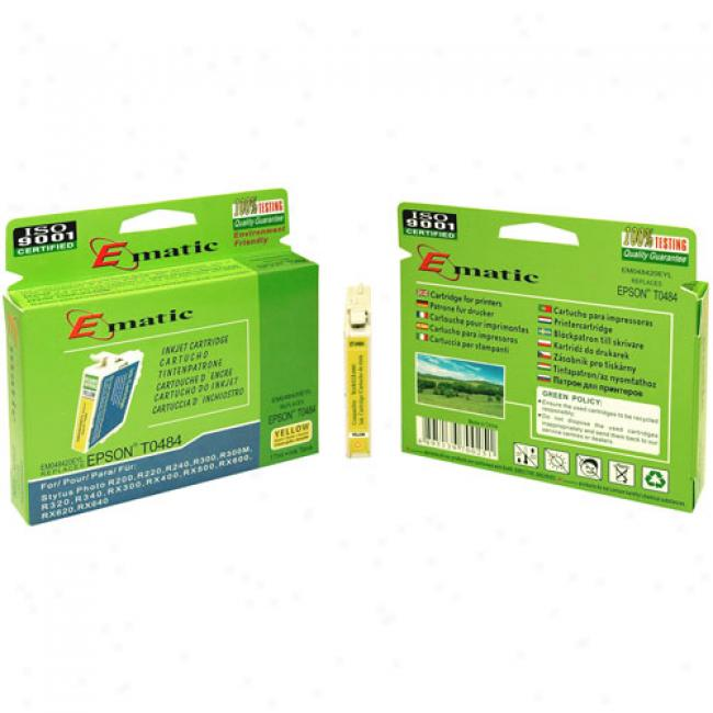 Ematic Inkjet Cartridge Replaces Epson T048420 Yellow (t048420)