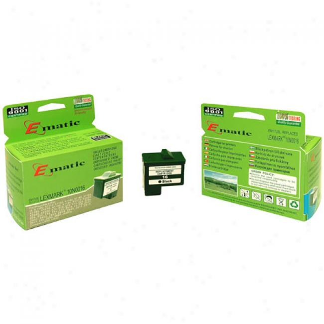 Ematic Inkjet Cartridge Replaces Lexmark 17 Black (10n0016)