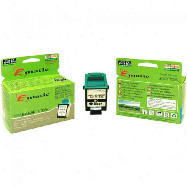 Ematic Inkjet Cartridge Replaces Lexmark 50 Black (17g0050)
