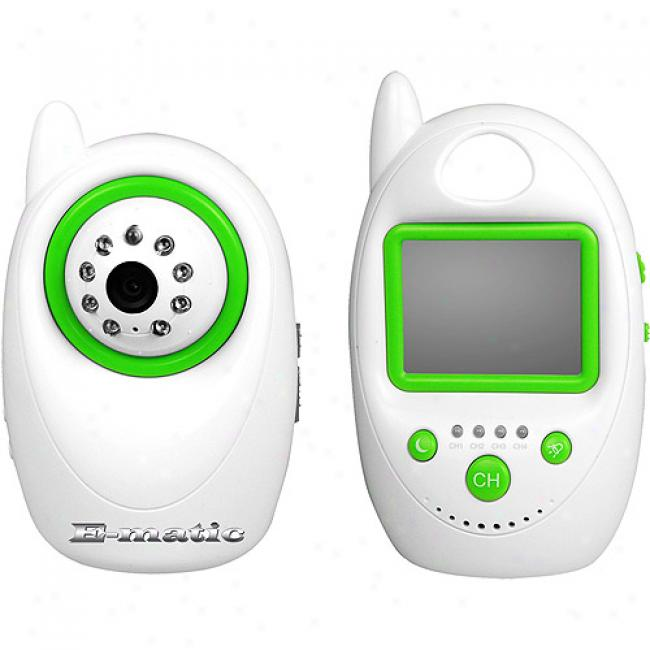 Ematic Wireless Digital Camera And Monitor Pack With 2.4