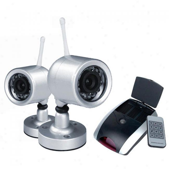 Ematic Wireless Waterproof Nightvision Color Security Camera/receiver Set