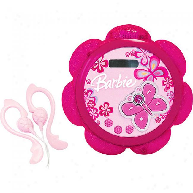 Emersln Barbie Tune Blossom Personal Cd Player