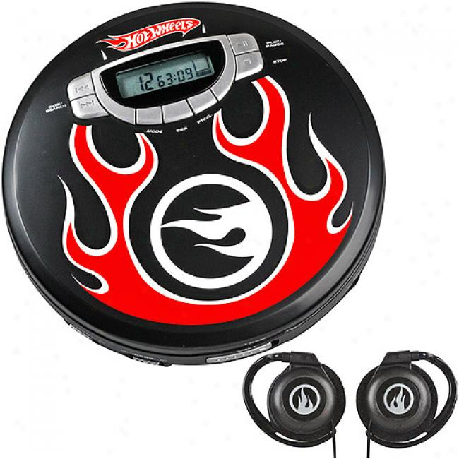 Emerson Hkt Wheels Track 'n Tunes Personal Cd Player