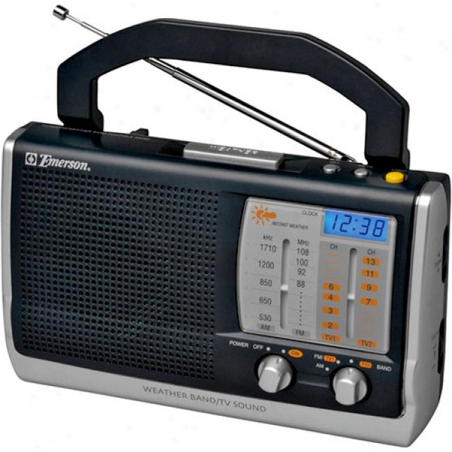 Emerson Instant Weather Am/fm Tv Band Clock Radio, Rp6250