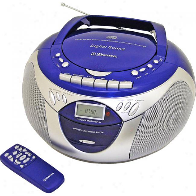Emerson Portable Cd Player With Am/fm And Cassette