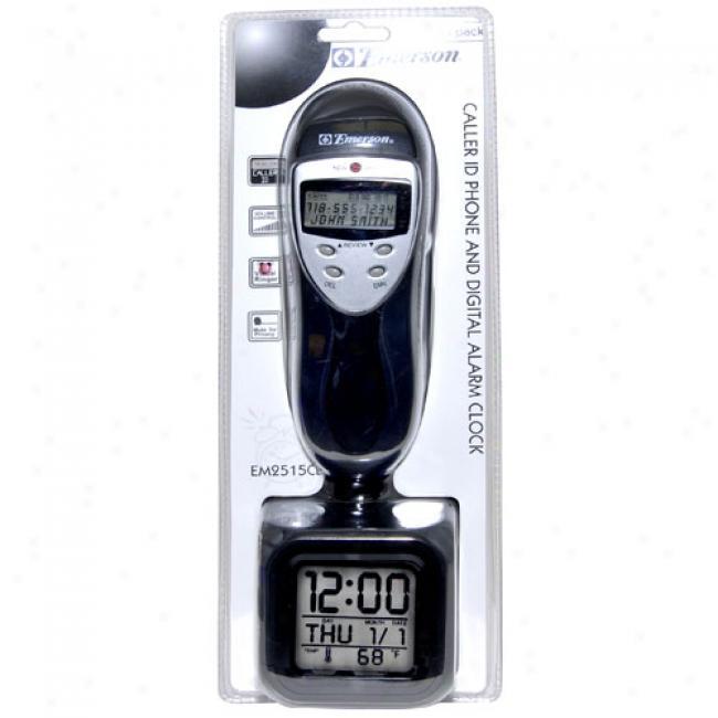 Emerson Slimline Phone W/ Caller Id Capability, Black