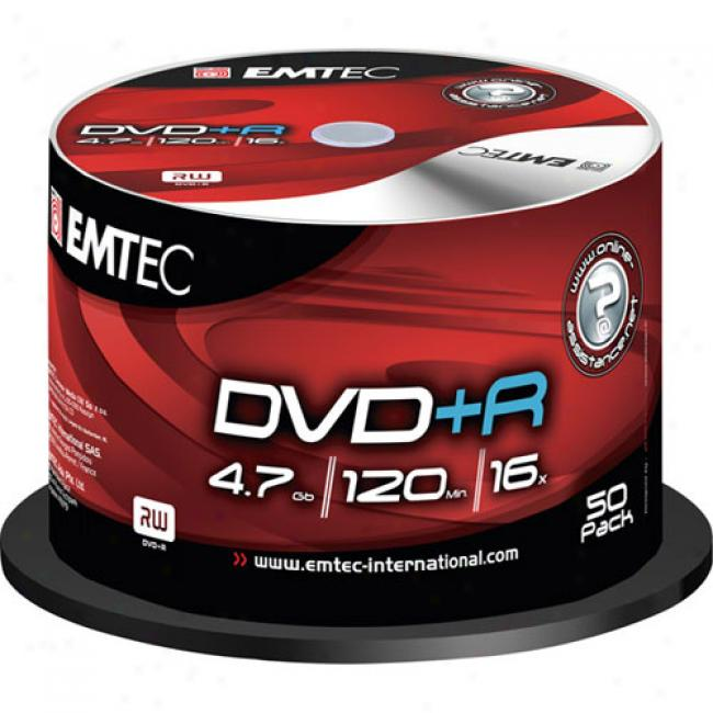 Emtec 16x Dvd+r Spindle, 50-disc
