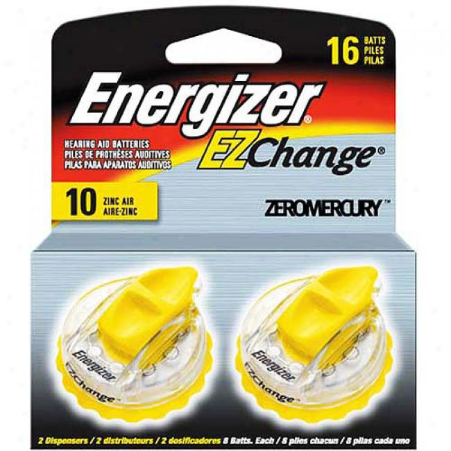 Energizer Type 10 Zinc Weather 1.4-volt Hearing Aid Batteries, Two 8-packs