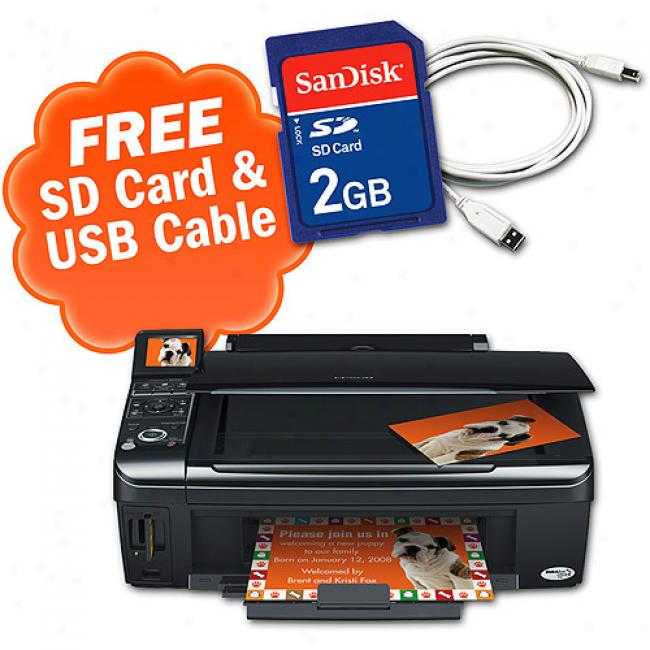 Epson Nx400 All nI One Printer;sandisk 2gb Sd Memory Card And A Cables To Go 10ft Usb Cable