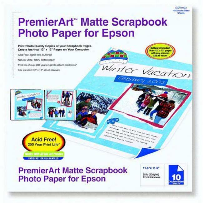 Epson - Premierart Matte Scrapbook Photo Paper