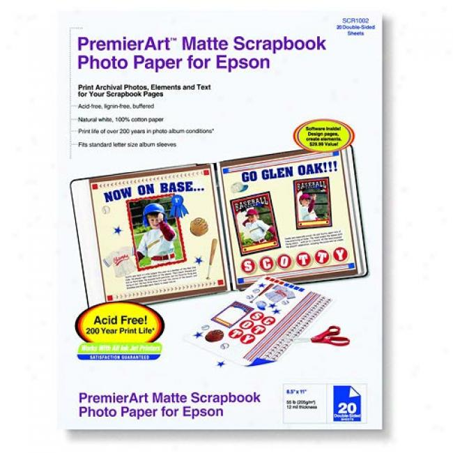 Epson - Premierart Scrapbook Matte Photo Paper