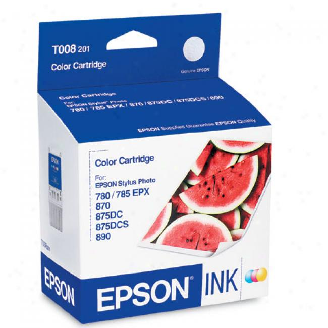 Epson T008201 Coior Ink Cartridge For Stylus Color 780, 870, 875dc, 875dcs And 890