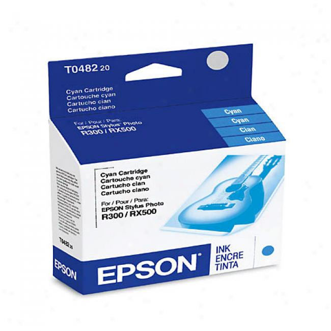 Epson T048220 Ink Cartridge, Cyan