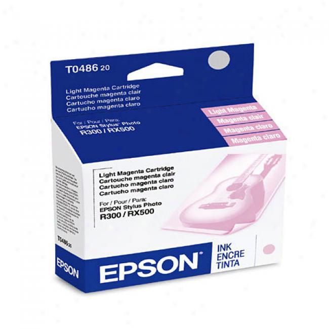Epson T048620 Ink Cartridge, Light Matenta