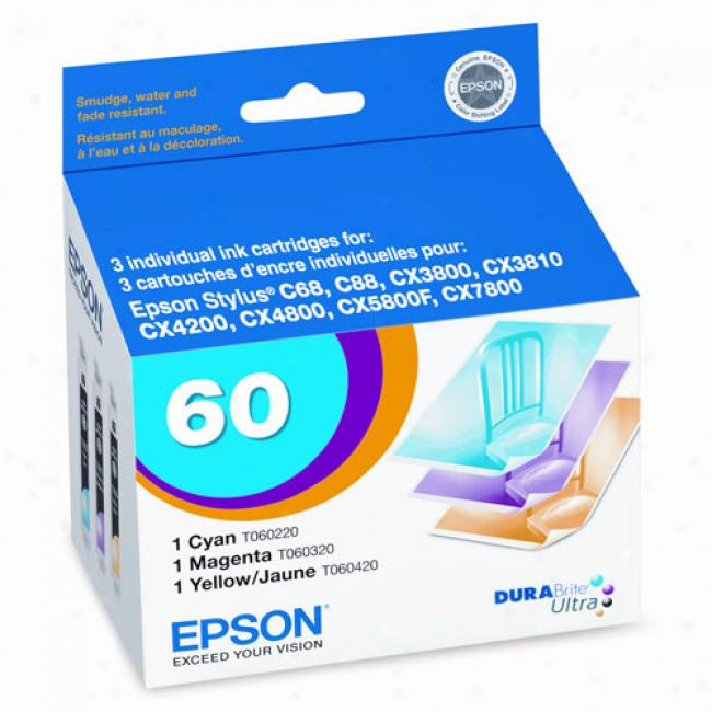 Epson T060520 Multi-pack Redden Ink Cartridges (cyan, Yellow, Magenta)