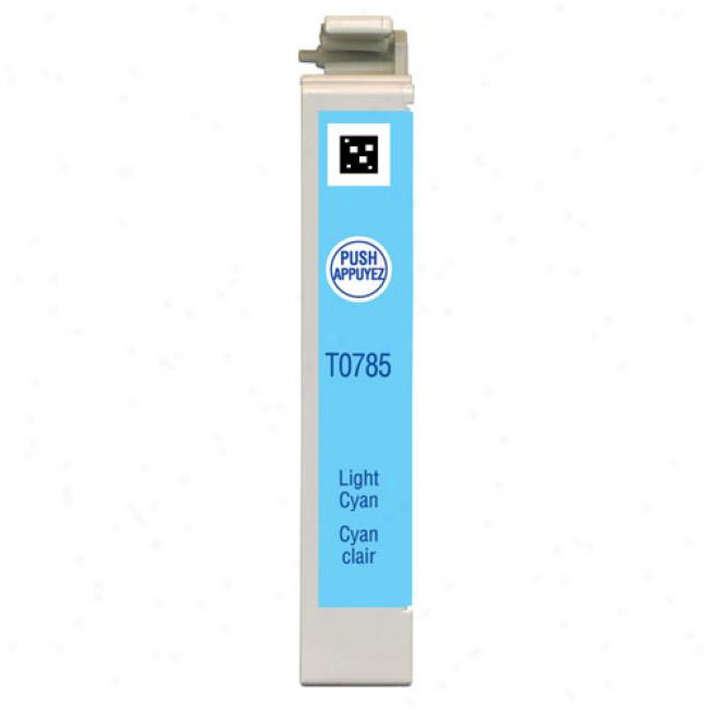 Epson T078520 Claria Hi-definition Light Cyan Cartridge For Epson Stylus Photo Printers
