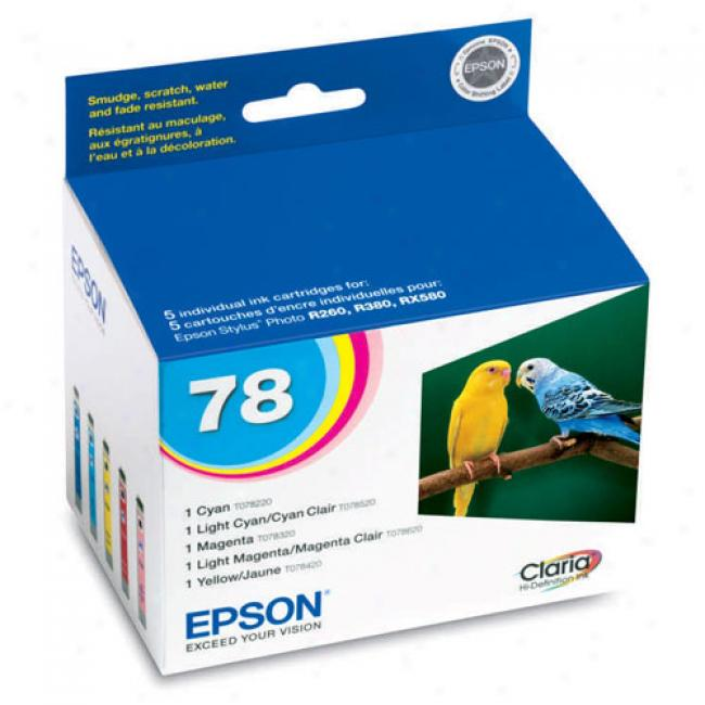 Epson T078920 Claria Hi-definition Color Multi-pack Ink Cartridge