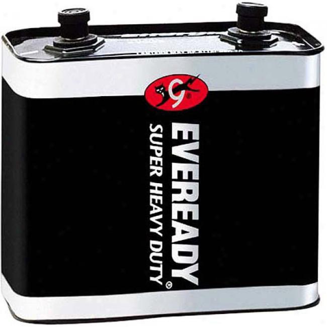 Eveready Super Heavy-duty 6-volt Lantern Battery W/ Screw Terminal