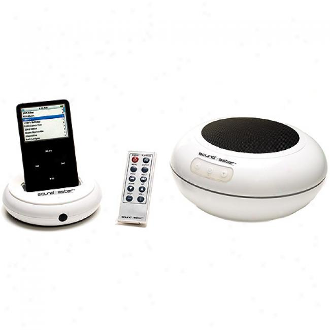 Excalibur 145 Soundmaster Attendant Floating Wireless Waterproof Speakers With Universal Dock For Ipod