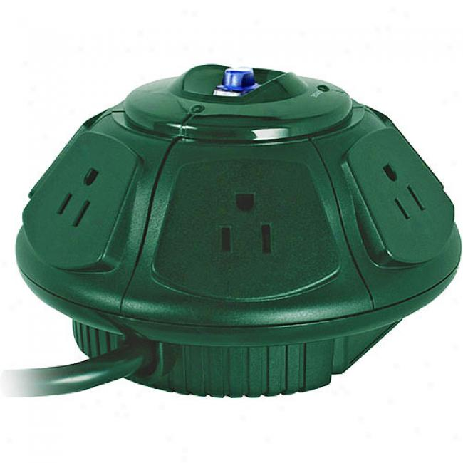 Ezgear Ezspace Ufo 6-outlet Surge Protector - Hoiday Inexperienced