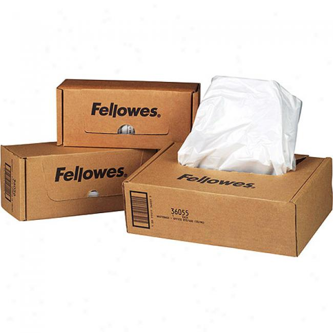 Fellowes 20 Gallon Powershred Waste Bags For General Office Shredders