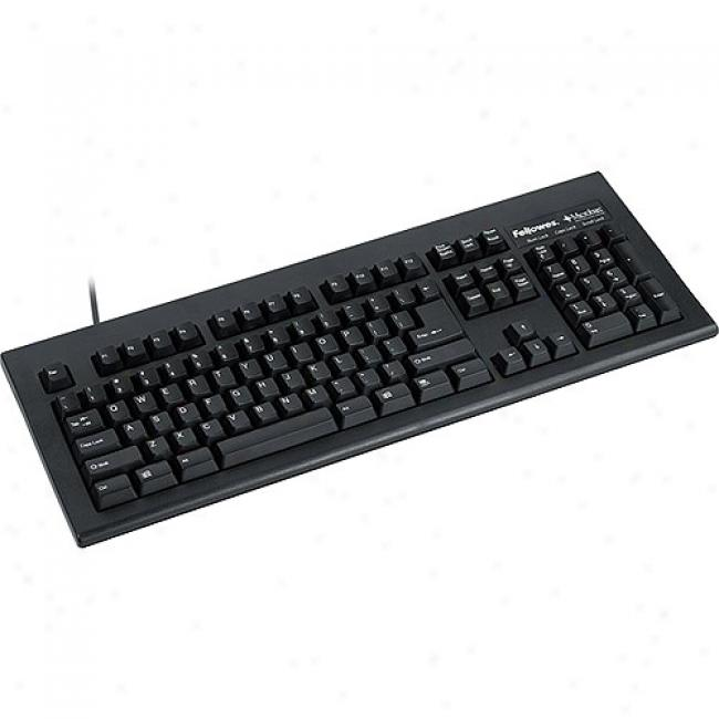 Fellowes Basic 104 Keyboard With Microban Product Protection