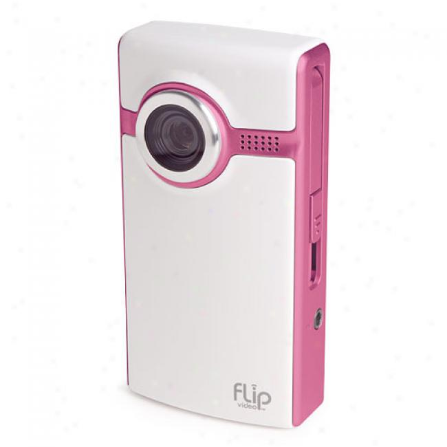Flip Video F230 Pink Ultda 30-minute Digital Caamcorder