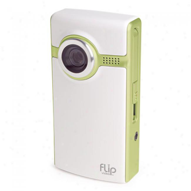 Flip Video Ultra Green ~ 60-minute Digital Camcorder F260