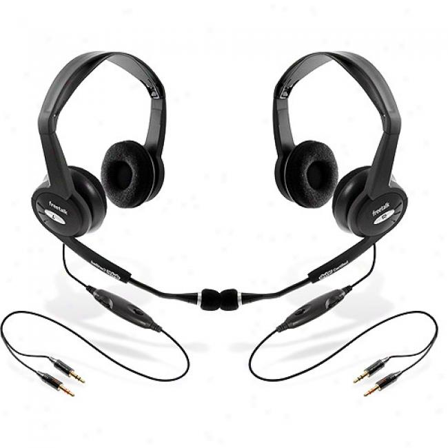 Freetalk Stereo Headsets, 2-pack