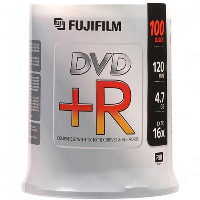 Fujifilm 16x Dvd+r, 100-disc Spindle