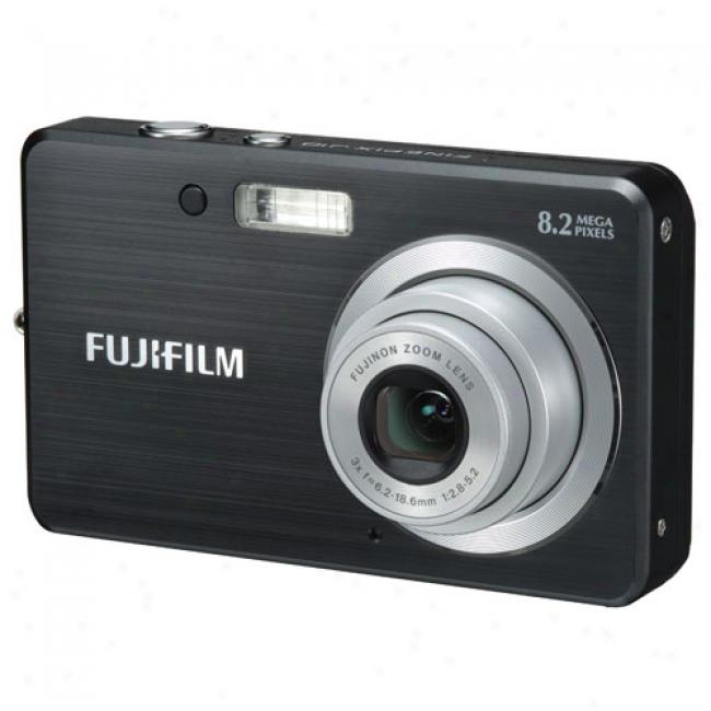 Fujifilm Finepix J10 Black ~ 8.2 Mp Digital Camera With 3x Optical Zoom
