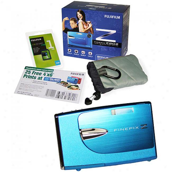 Fujifilm Z20fd Ble10mp Digital Camera, 1gb Sd Card & Case Bundle