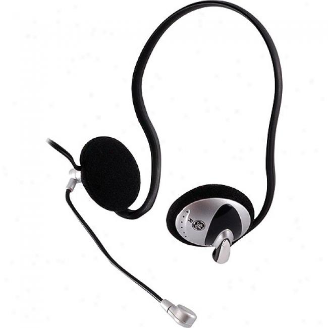 Ge Stereo Pc Headset With Boom Mic