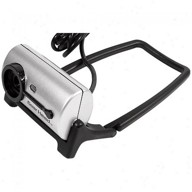 Accoutrements Head 1.3 Mp Face Tracking Webcam, Wc875ft