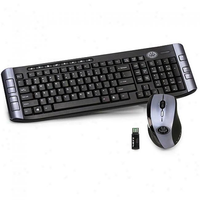 Gear Head 2.4 Ghz Wireless Keyboard And Laser Tilt-wheel Mouse, Kbl7500w