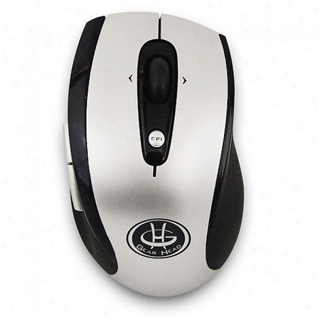 Gearing Head 2.4 Ghz Wireless Optical Tilt-wheel Mouse, Mp3000ws