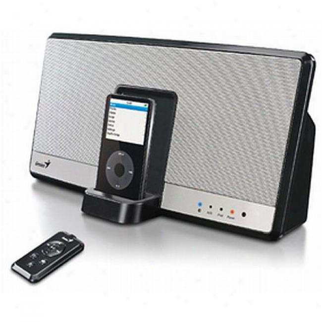 Genius Itempo800bt Compact Audio System W/ Ipod Shorten & Bluetooth