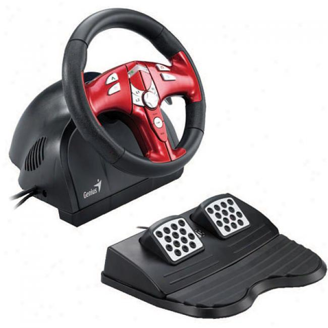 Genius Trio Racer Force Feedback Racing Wheel
