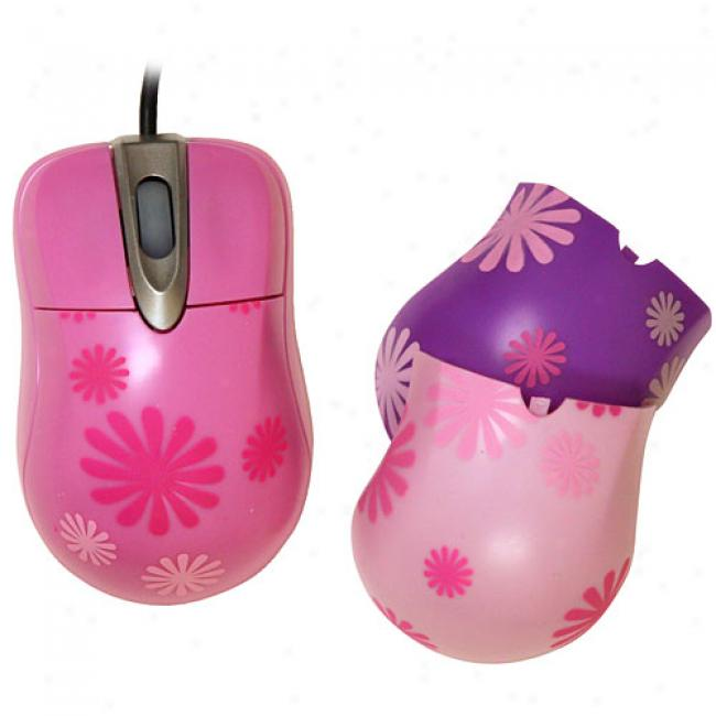 Girl Gear Wheel Scroll Mouse